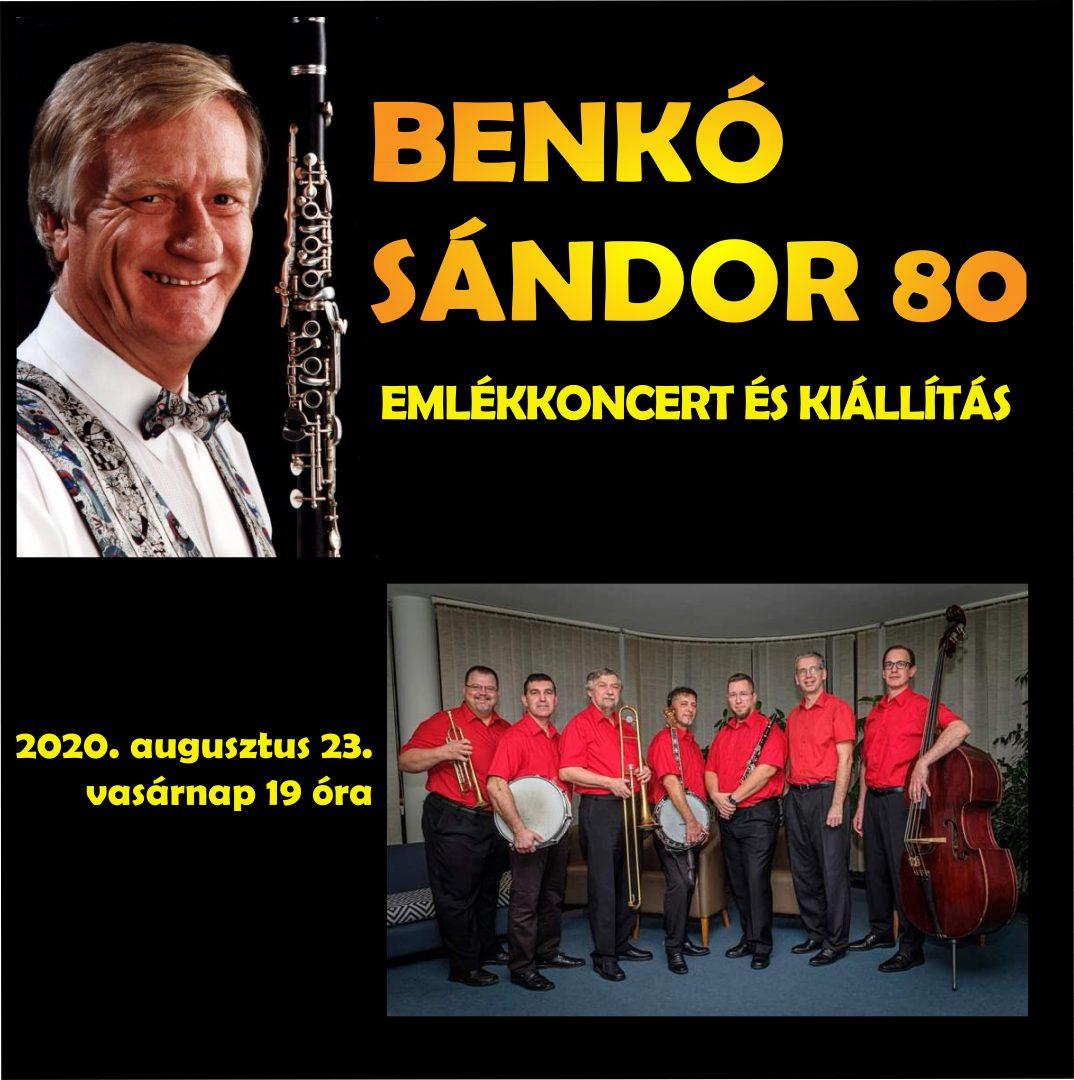 Benkó Sándor 80 –  emlékkoncert és kiállítás